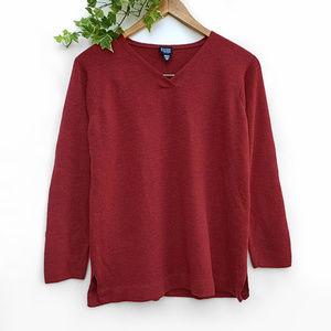 Eileen Fisher Merino Wool V-Neck Sweater Petite L